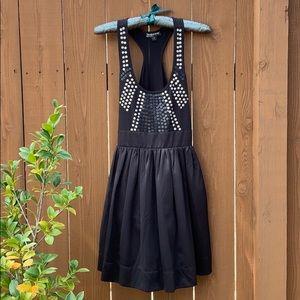 Rampage Short Black Racerback Dress
